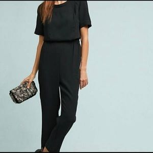 Short Sleeve Cartonnier Allegory Textured Jumpsuit